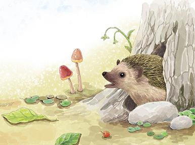 可爱动物插画